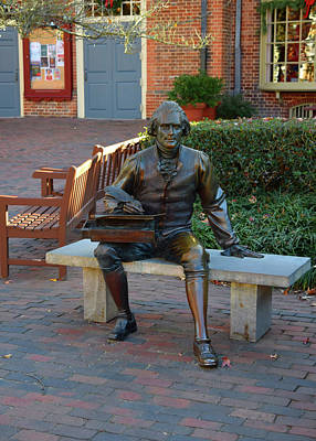 Photograph - Statute Of Thomas Jefferson by Karen Harrison