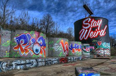 Photograph - Stay Weird Asheville by Carol Montoya