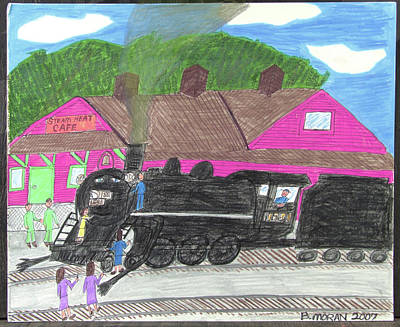 Drawing - Steam Heat Cafe by Barb Moran