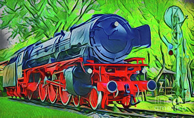 Painting - Steam Locomotive A18-6 by Ray Shrewsberry