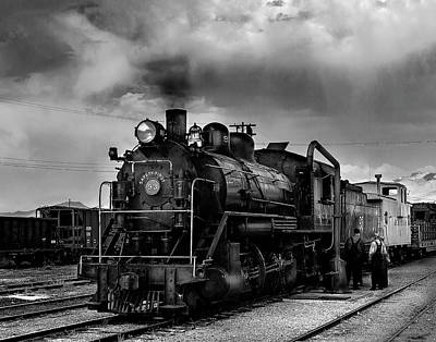 Photograph - Steam Locomotive In Black And White 1 by James Sage