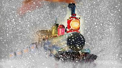 Kitchen Mark Rogan Rights Managed Images - Steam Locomotive In Snowfall Ultra HD Royalty-Free Image by Hi Res