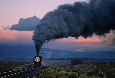 Photograph - Steam Locomotive Storming At Dawn by Mike Danneman