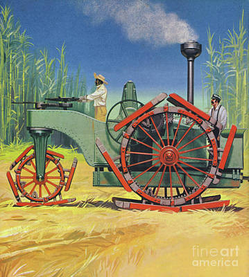 Painting - Steam Traction Engine Created To Work In The Sugar Plantations Of Cuba by Angus McBride