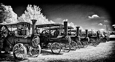 Photograph - Steam Tractors In  A Row by Paul W Faust - Impressions of Light