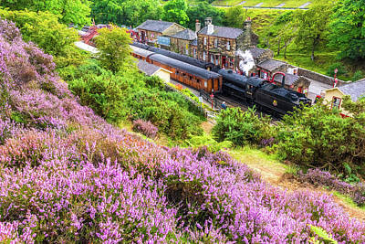 Photograph - Steam Train At Goathland, North York Moors by David Ross