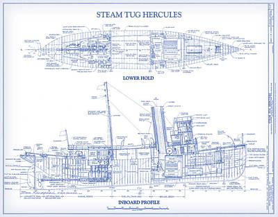 Digital Art - Steam Tug Hercules by Gary Grayson