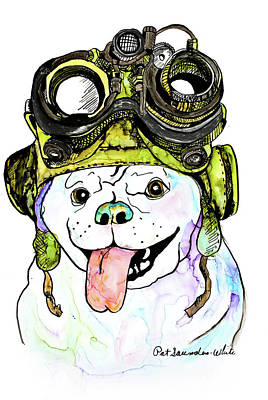 Painting - Steampunk Pug by Pat Saunders-White