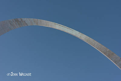 Photograph - Steel Blue Arch by Joan Wallner