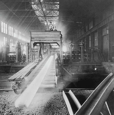 Photograph - Steel Foundry by Archive Photos