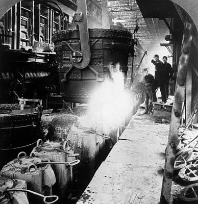 Steel Foundry Art Print by Hulton Archive