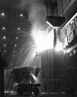 Photograph - Steel Furnace by Charles Hewitt