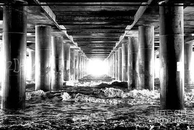 Photograph - Steel Pier Light Patterns Atlantic City by John Rizzuto