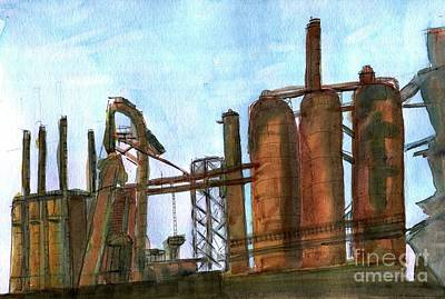 Painting - Steel Stacks by Andrea Rubinstein