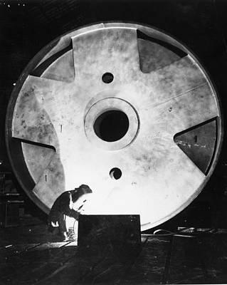 Photograph - Steel Welder by Henry Guttmann