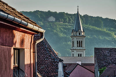 Photograph - Steeple Through The Rooftops - Romania by Stuart Litoff