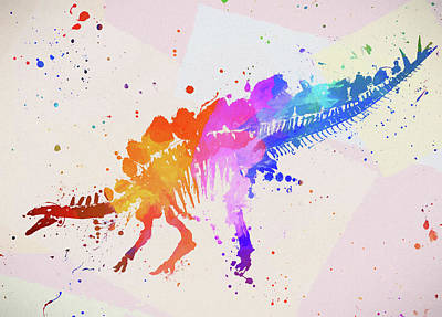 Painting - Stegosaurus by Dan Sproul
