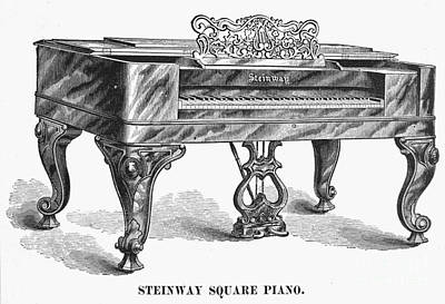 Photograph - Steinway Square Piano, 1878 by Granger