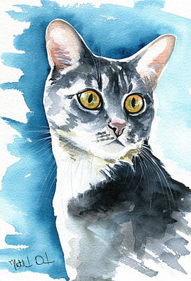 Painting - Stella Cat Painting by Dora Hathazi Mendes