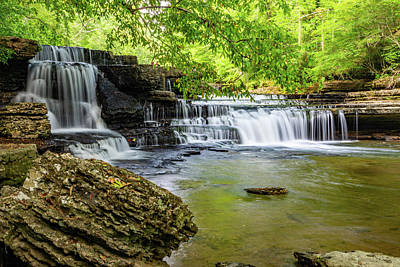 Photograph - Step Falls by Jack Peterson