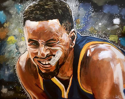 Painting - Steph Curry by Joel Tesch