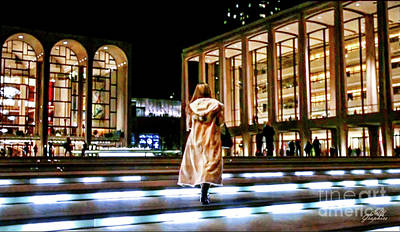 Digital Art - Steps To Lincoln Center Nyc by CAC Graphics