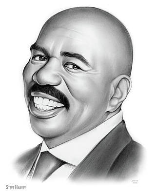 Drawing - Steve Harvey 2 by Greg Joens
