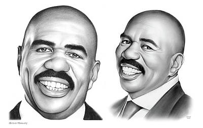 Drawing - Steve Harvey 734 by Greg Joens
