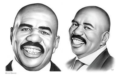 Drawings Royalty Free Images - Steve Harvey 734 Royalty-Free Image by Greg Joens