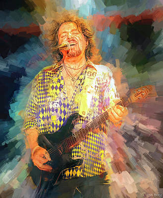 Jazz Mixed Media Royalty Free Images - Steve Lukather Toto Royalty-Free Image by Mal Bray