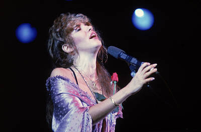 Photograph - Stevie Nicks Performs On Stage by Hulton Archive