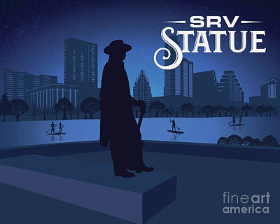 Digital Art - Stevie Ray Vaughan Memorial Statue  by Austin Welcome Center