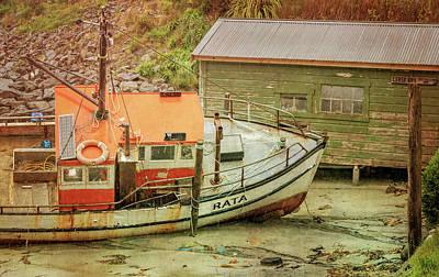 Photograph - Stewart Island New Zealand Boat And Boathouse by Joan Carroll