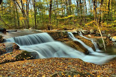 Photograph - Stickeny Brook Falls Cascades by Adam Jewell
