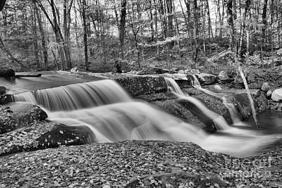 Photograph - Stickeny Brook Falls Cascades Black And White by Adam Jewell