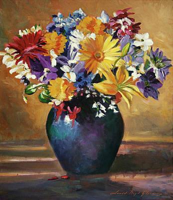 Painting - Still Life Blue Vase by David Lloyd Glover