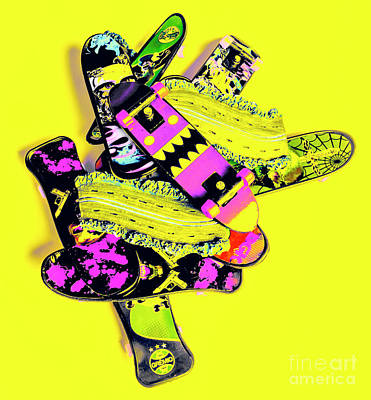 Pop Art Royalty-Free and Rights-Managed Images - Still life street skate by Jorgo Photography - Wall Art Gallery
