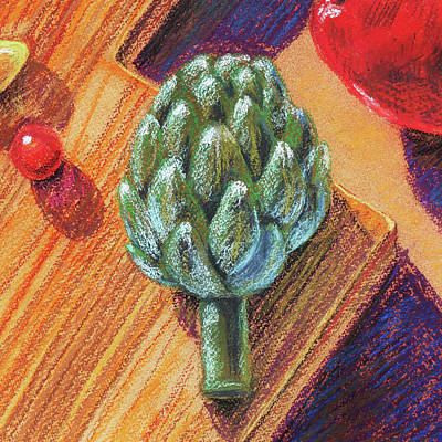 Painting - Still Life With Artichoke  by Irina Sztukowski