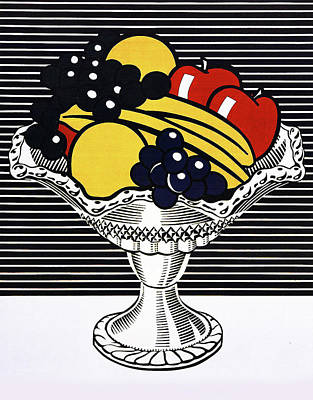 Photograph - Still Life With Crystal Bowl by Doc Braham - In Tribute to Roy Lichtenstein