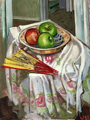 Painting - Still Life With Fan by Ann Heideman
