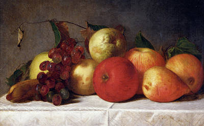 Painting - Still Life With Fruit By Martin Silas by Superstock