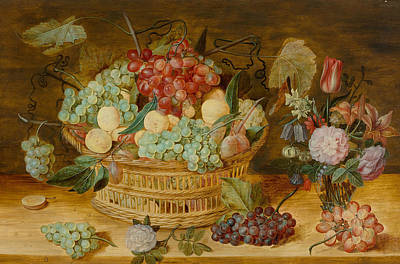 Painting - Still Life With Fruits In A Basket by Isaak Soreau