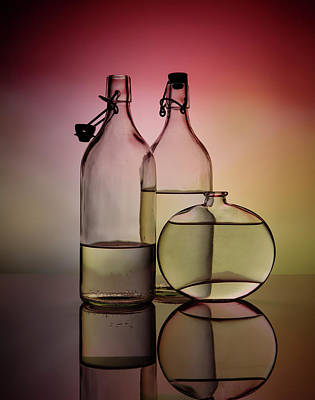 Classic Cocktails - Still Life with Glass Bottles - Variant 01 by Nailia Schwarz