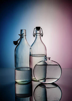 Royalty-Free and Rights-Managed Images - Still Life with Glass Bottles - Variant 02 by Nailia Schwarz