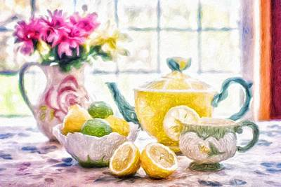 Painting - Still Life With Lemons by Vincent Monozlay