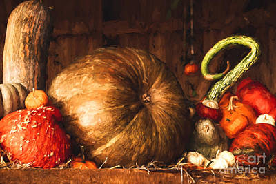 Digital Art - Still Life With Pumpkins by Jayne Wilson