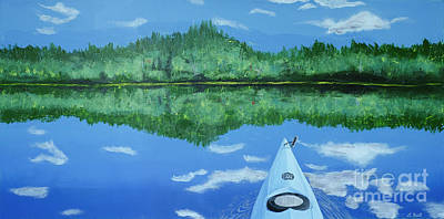 Painting - Still Reflective by Laurel Best