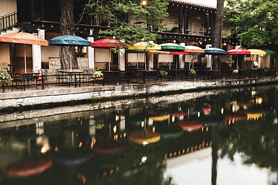 Photograph - Stillness Along The San Antonio Texas Riverwalk by Gregory Ballos
