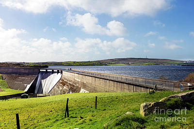 Photograph - Stithians Reservoir Dam by Terri Waters