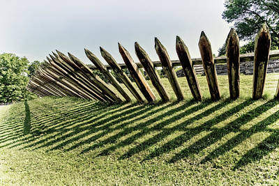 Photograph - Stockade At Fort Ligonier by Carolyn Derstine